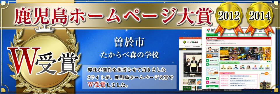 ホームページ大賞W受賞