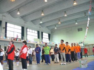 運動会開会式