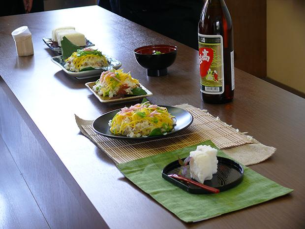 鮭寿司ほか料理