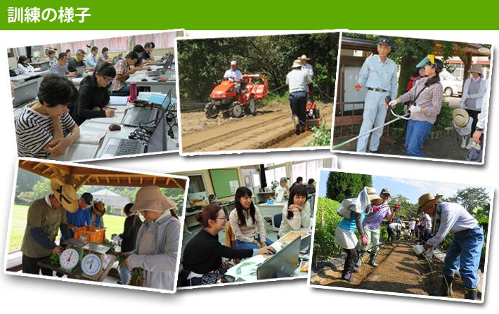 平成28年度農業人材育成科訓練の様子