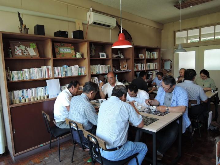 視察のお客様にたか森カフェで昼食とっていただきました