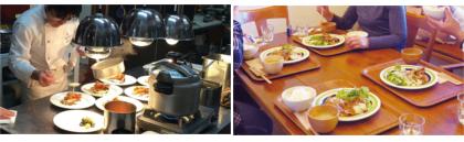 田舎の本格フレンチレストランや地元で人気のカフェでランチ