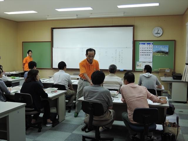 講師の先生から挨拶と説明
