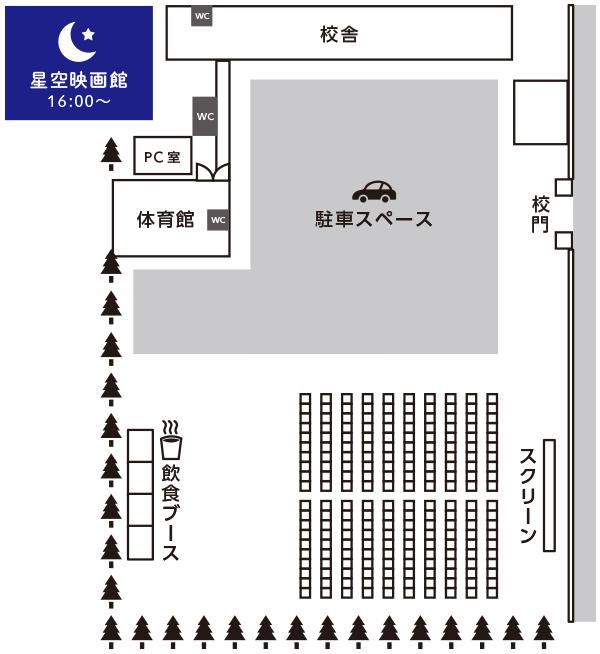 星空映画館会場図