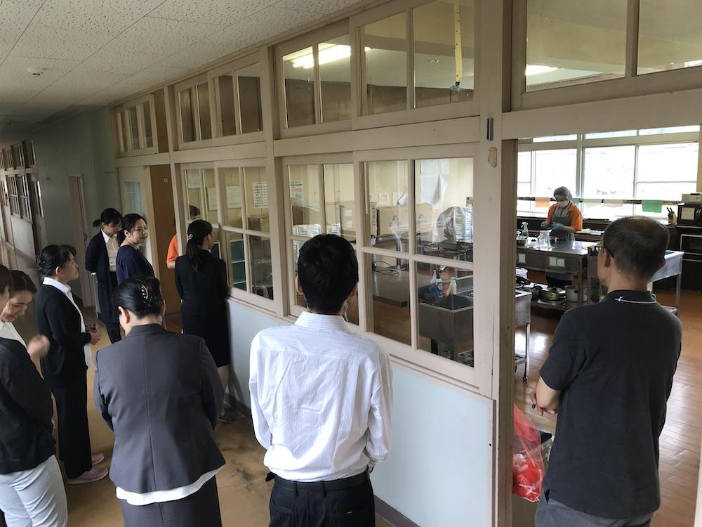 調理実習室の見学
